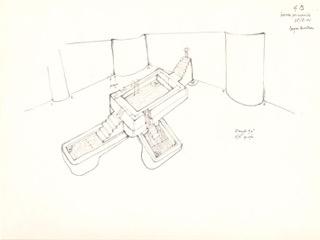 Gianfranco Baruchello, Bagni de Chirico, 2002, matita su carta, 18x23,5 cm