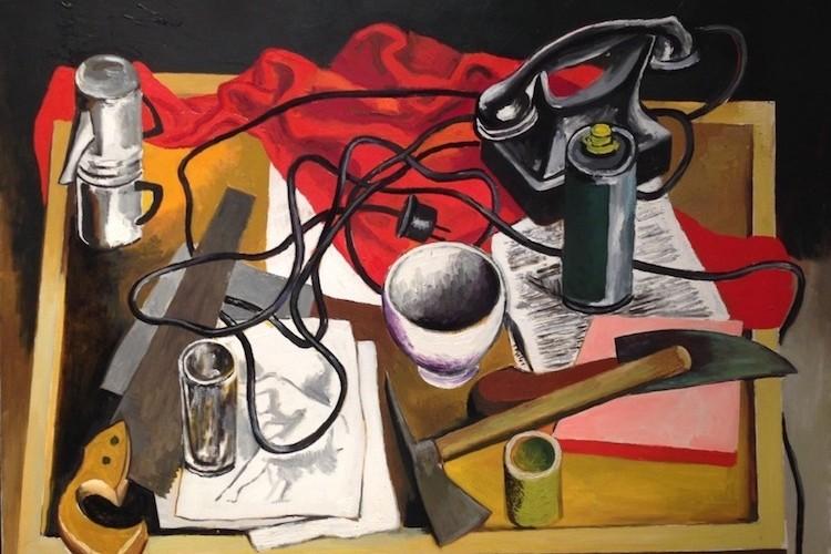 Renato Guttuso, Natura morta, 1973, olio su tela, 80x100 cm