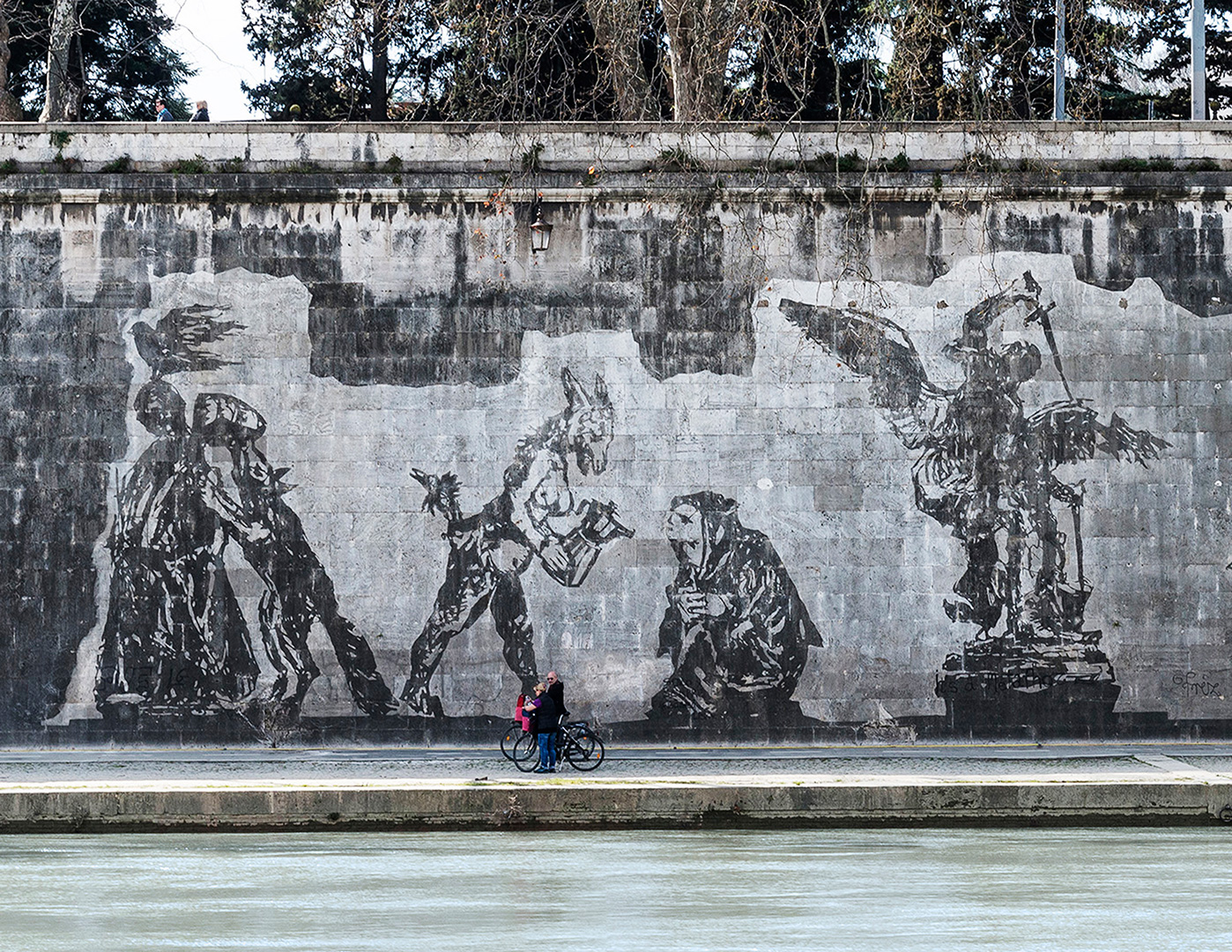 Perspective view of William Kentridge Triumphs and Laments, Work in Progress, Roma. Foto: Luciano Sebastiano