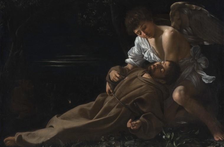 Michelangelo Merisi da Caravaggio, San Francesco in estasi, 1597, olio su tela, 94 x 130 cm Wadsworth Atheneum Museum of Art, Hartford, CT Wadsworth Atheneum Museum of Art, Hartford, CT. The Ella Gallup Sumner and Mary Catlin Sumner Collection