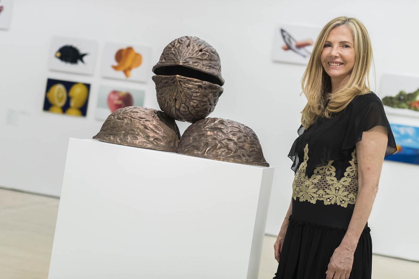 Gemma Testa al Mart in occasione dell'apertura della mostra. Foto: Mart, Jacopo Salvi