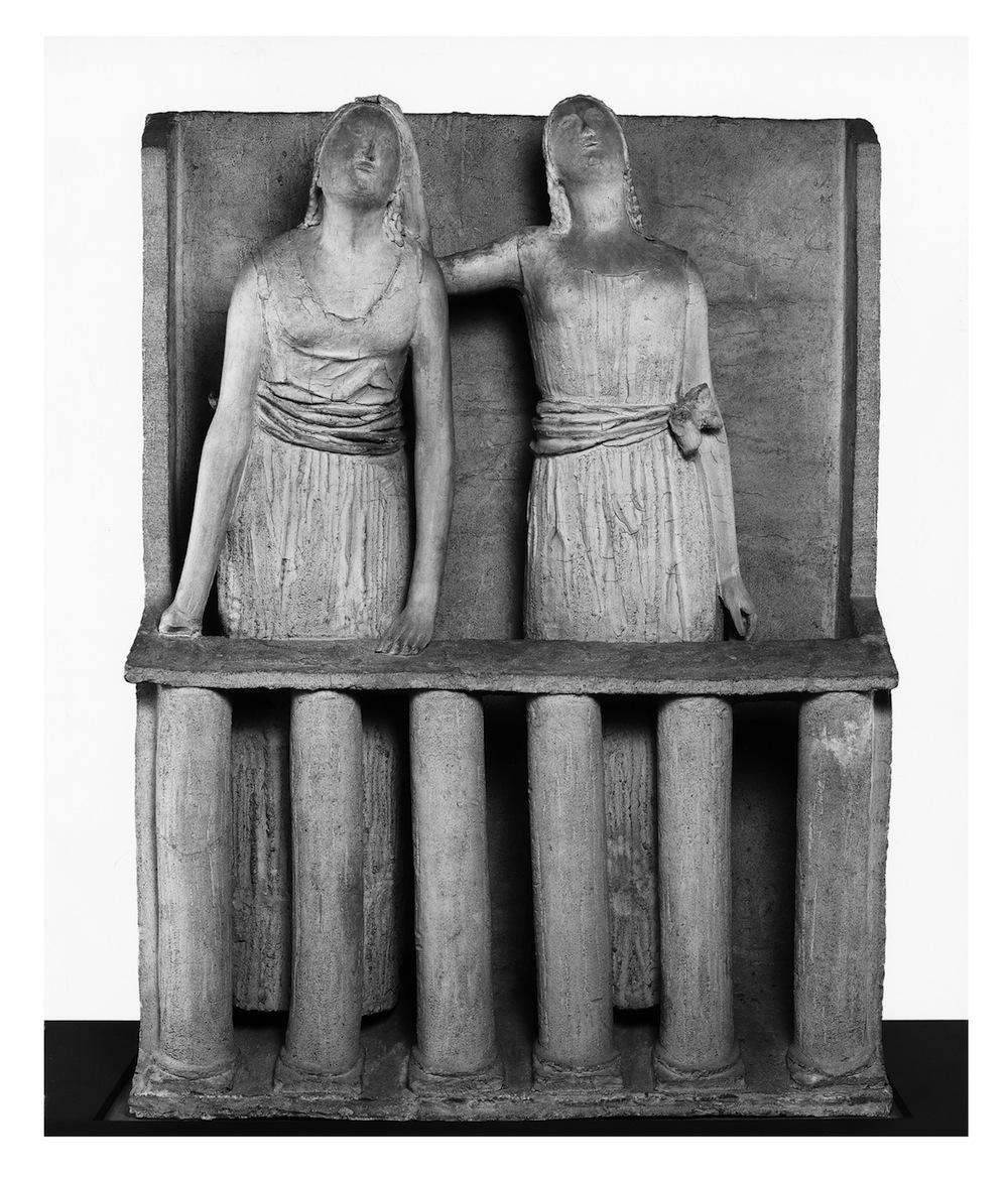 Chiaro di luna, 1931-1932. Terracotta, 180 × 133 × 54 cm. Anversa, Middelheimmuseum. Foto: Bart Huysmans and Michel Wuyts.
