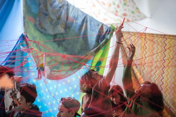 ALAgroup, La felicità che viene. Workshop. Liceo Artistico Caravaggio di Milano. Foto: Marco Passaro