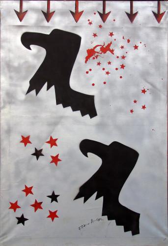 Franco Angeli, Aquile romane, 1967, acrilici su tela, 120x80 cm