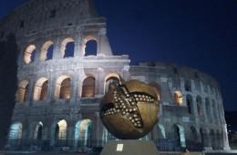 Giuseppe Carta, La grande melagrana, bronzo e resina, diametro 600 cm