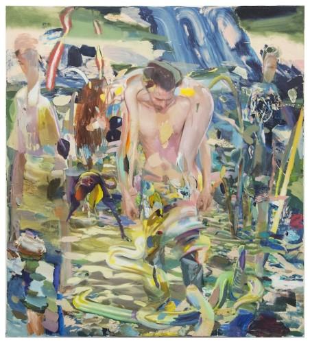 Giuseppe Gonella, Senza titolo, 2016-2017, acrilico su tela, 200x180 cm Courtesy Galleria Giovanni Bonelli