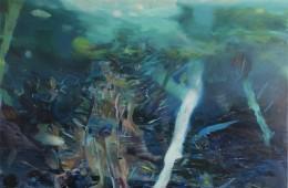 Giuseppe Gonella, The funambulist, 2017, 220x200 cm Courtesy Galleria Giovanni Bonelli