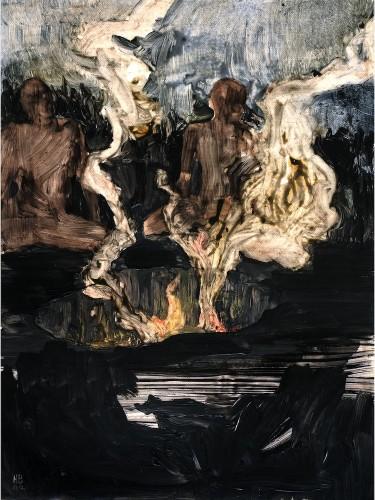 Hernan Bas, Untitled, 2002, tecnica mista, 30x23 cm Courtesy Apart