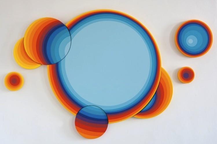 Jan Kaláb, Blue Sun 0817, 2017, acrilico su tela, 135x210 cm