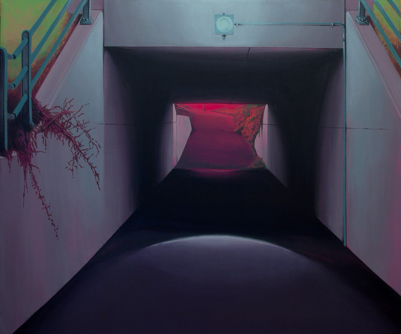 Laura Giardino, FLOOD 11, 2017, tecnica mista su tela, 60x50 cm