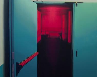 Laura Giardino, INT 09, 2017, tecnica mista su tela, 60x50 cm