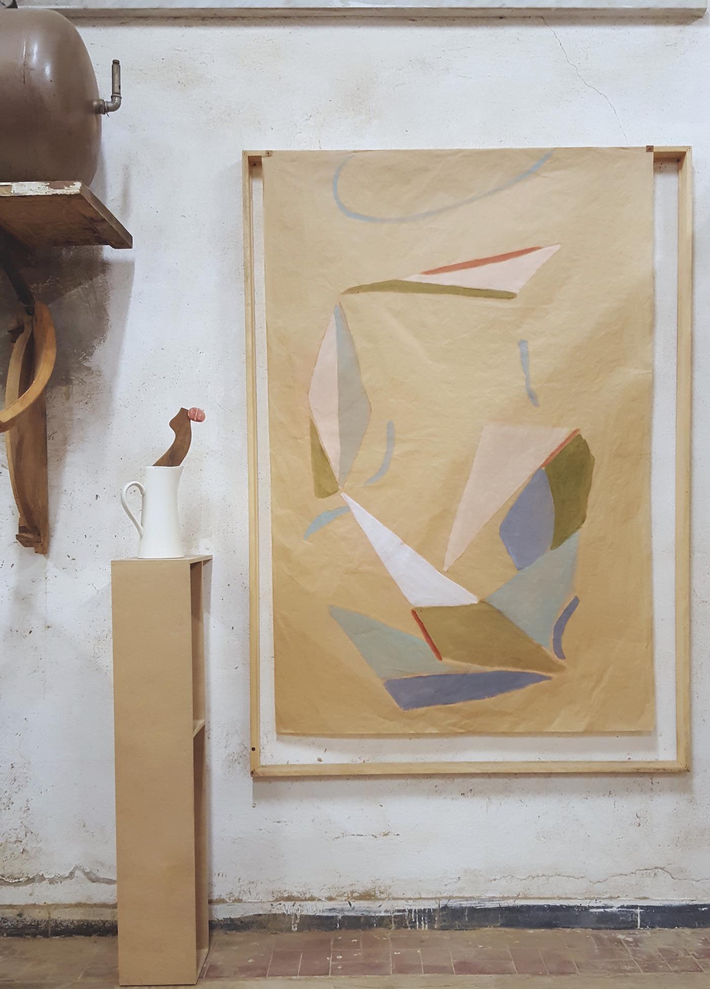 """""""L'inizio di una sedia"""", opera di Beatrice Meoni, veduta installazione, Museo della Sedia Leggera, Chiavari"""