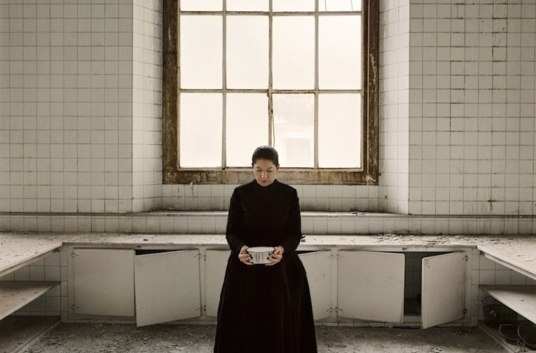 Marina Abramović, The Kitchen V, Carrying the Milk From the series The Kitchen, Homage to Saint Therese Video installation, color 2009. © Marina Abramović. Courtesy of the Marina Abramovic Archives