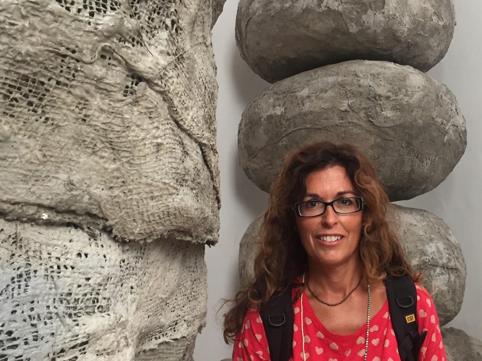 Nadia Stefanel in visita alla Biennale Arte 2017, Padiglione Gran Bretagna