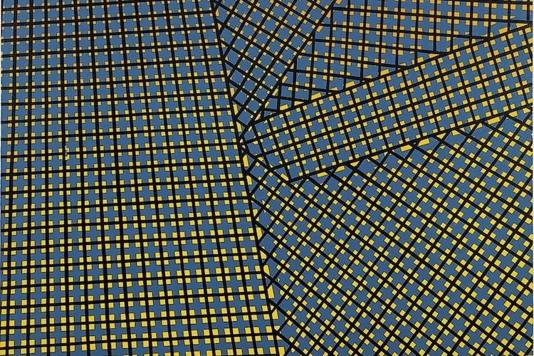 Mario Nigro, Spazio totale: interruzione, 1954, tempera verniciata su tela, 150x120 cm Collezione privata, Milano