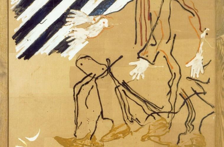 Mario Schifano, A Balla, 1977, acrilici su carta, 146x116 cm