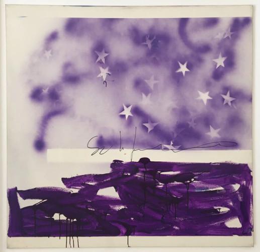 Mario Schifano, Tutte Stelle, 1973-78, acrilico su tela, 110x110 cm