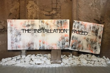 Rero, Untitled (THE INSTALLATION FAILED...), UrbanArt Biennale, Völklingen, Germany, 2014