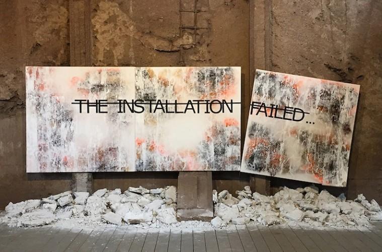 Rero, Untitled (THE INSTALLATION FAILED...), UrbanArt Biennale, Völklingen, Germany, 2014