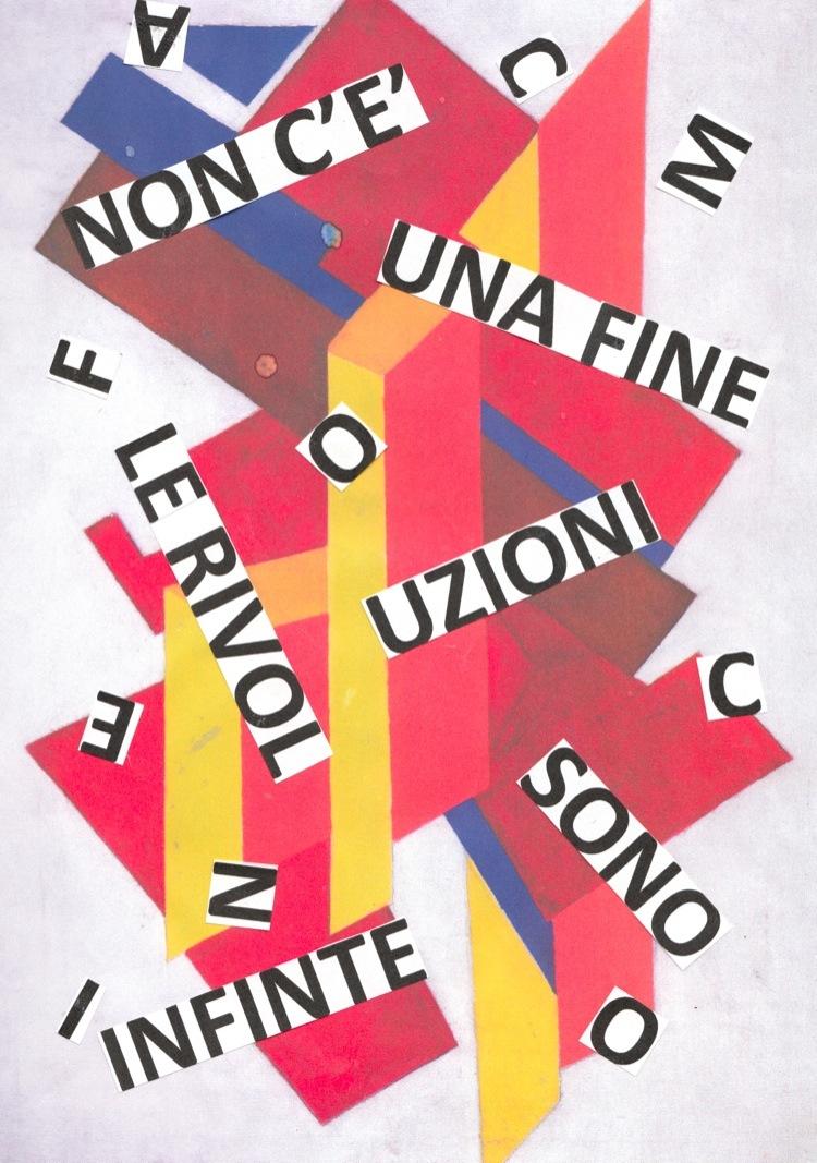 """Nanni Balestrini, Olga Rozanova, Suprematismo, 1916-17, """"Non c'è una fine le rivoluzioni sono infinite"""" Zamyatin"""