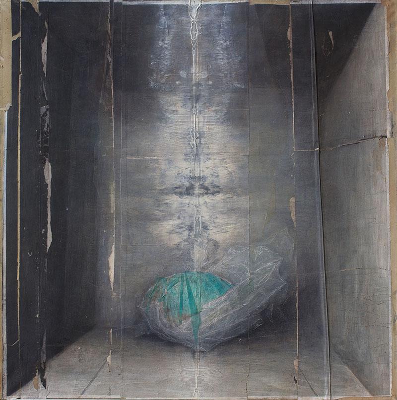 Andrea Mariconti, 2017, cm 140x140. Courtesy Federico Rui Arte Contemporanea