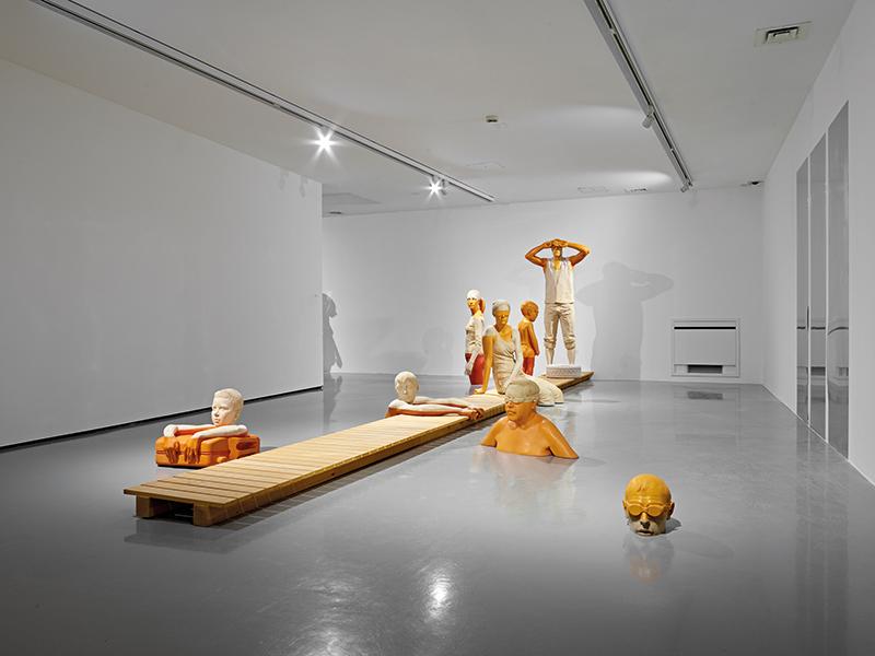 Willy Verginer, Acqua alta. Veduta della mostra Legno | Lën | Holz, Galleria Civica di Trento