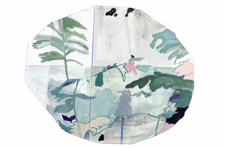 Federica Giulianini, Adonie, 2017, tecnica mista su carta, cm.  56x67