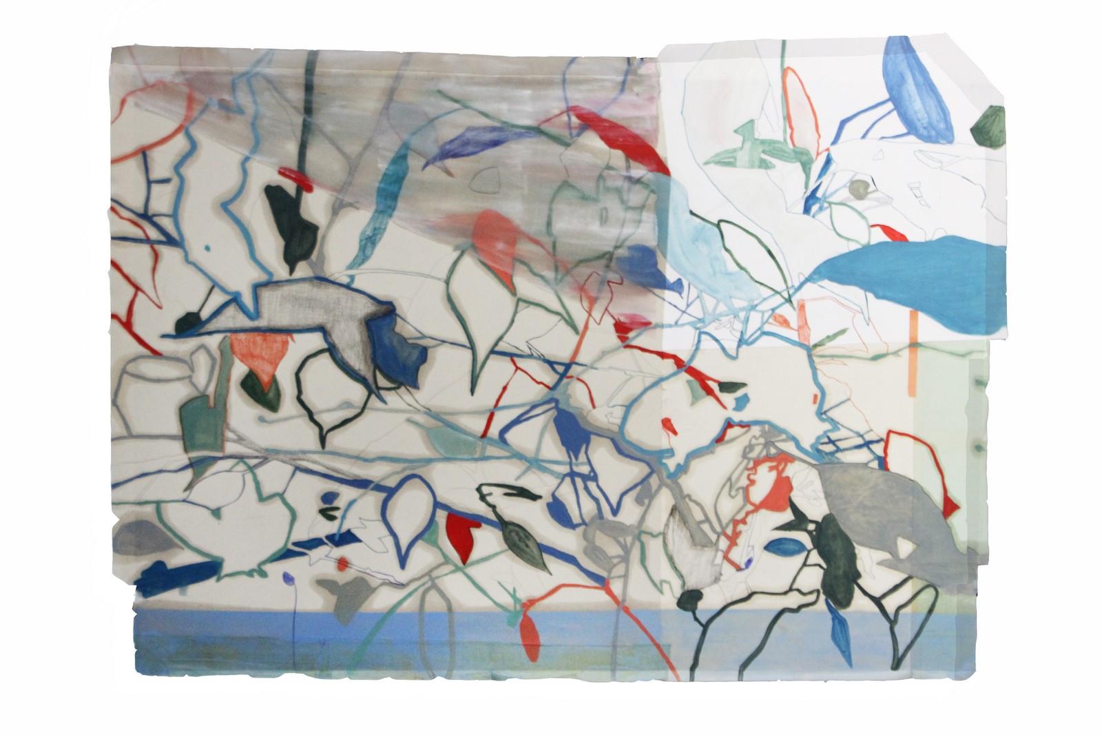 Federica Giulianini, Amor Insidias, 2017, tecnica mista su carta, cm. 78x106
