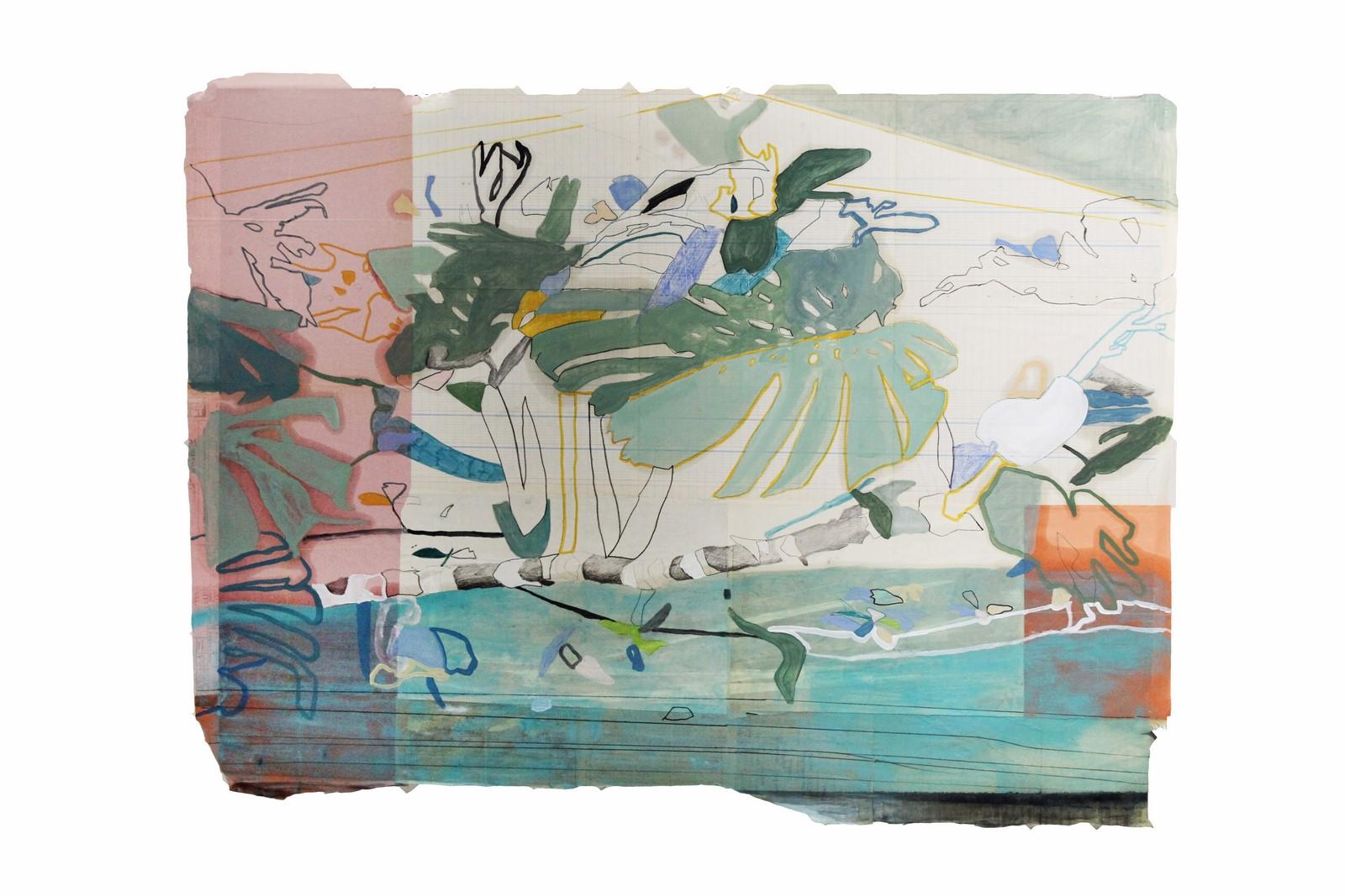 Federica Giulianini, Naturare, 2017, tecnica mista su carta, cm. 80x100