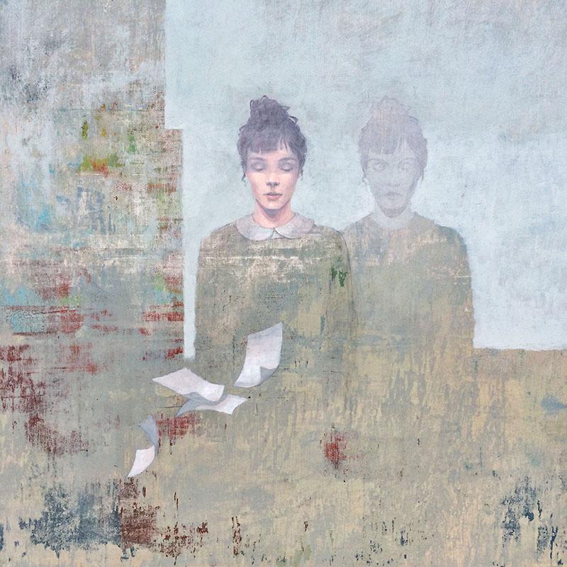 Federico Infante, Mirror, 2017, acrilico su tela, cm 61x61. Courtesy Galleria Punto Sull'Arte