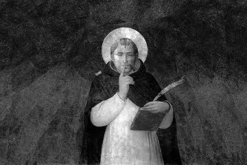 """Mounir Fatmi, The Silence of Saint Peter Martyr, 2011, video HD, b&w with audio, 5'04"""", edition of 5"""