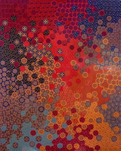 Oksana Mas, 1–10, 2015, tecnica mista, 150x150 cm