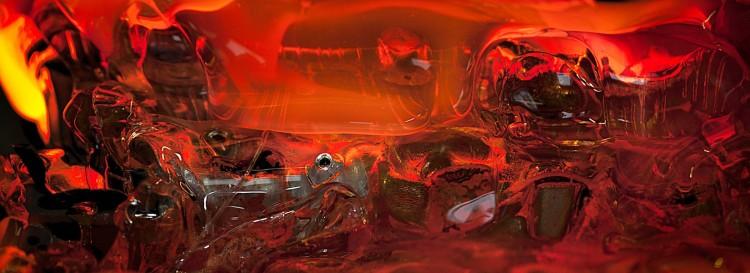Oksana Mas, Quantum Prayer - 15, 2015, inkjet photo print, acrilico lucido su pannello in alluminio, 149x399 cm