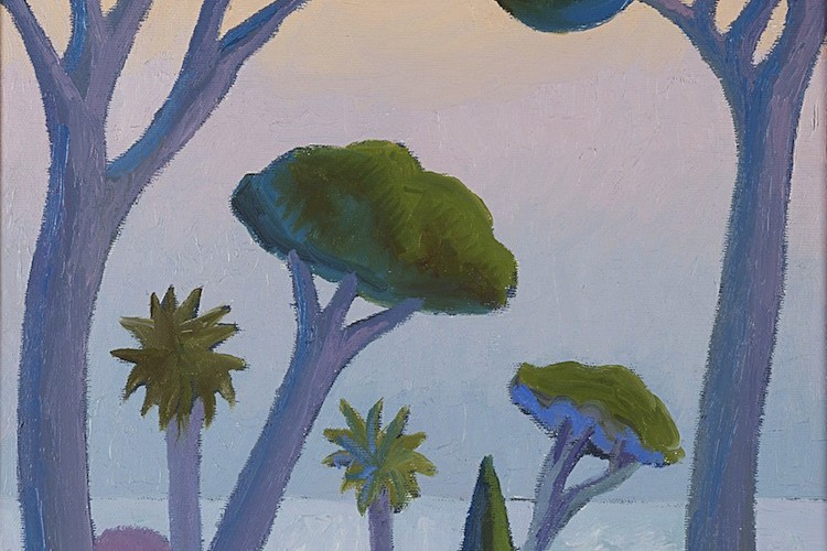 Salvo, Paesaggio con pini, 1986, olio su tela, 50x35 cm Courtesy Dep Art, Milano