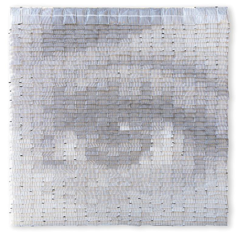 Giorgio Tentolini, C8 H11 NO2, 2017, 940 bustine di zucchero, cm 80x80