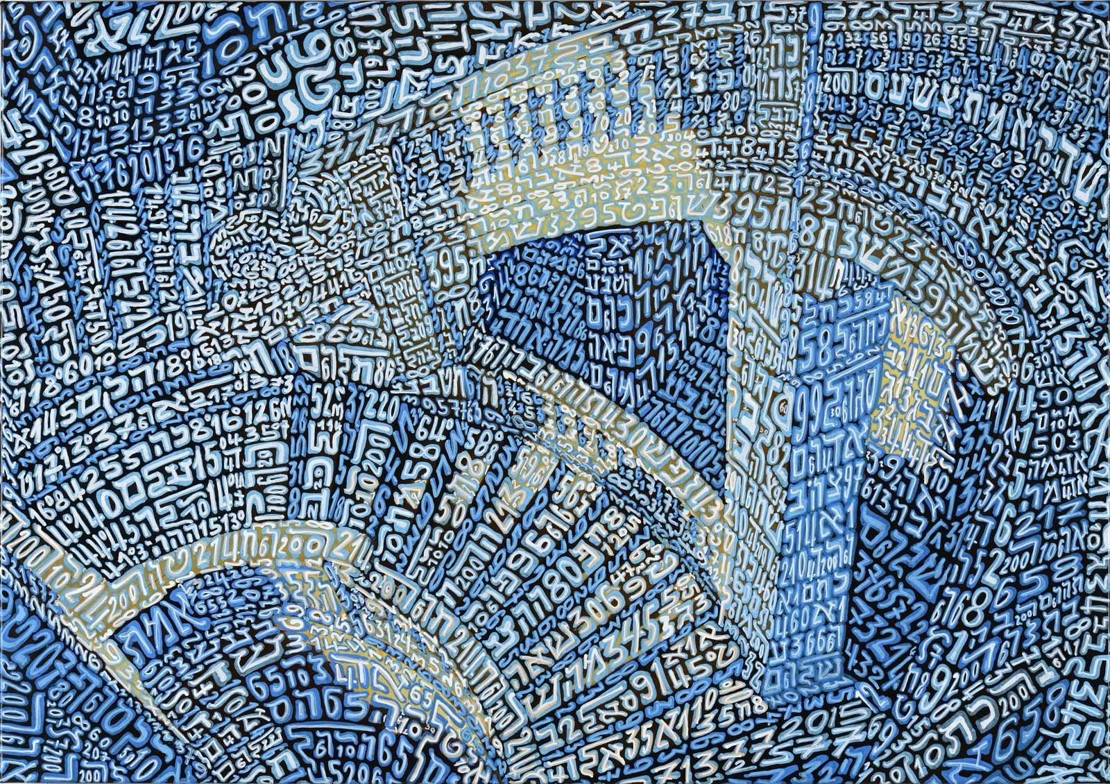 Tobia Ravà, Sullam, sequenze in scala, 2015, resine e tempere acriliche su tela, cm 50 x 70, courtesy Galleria Zabert Torino, foto Amedeo Fontana