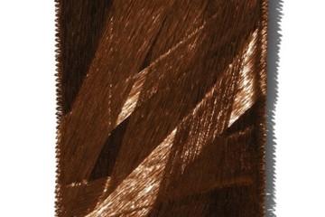 Antonella Zazzera, Quadro II - M17, 2017, fili di rame, 71x52.5x4 cm