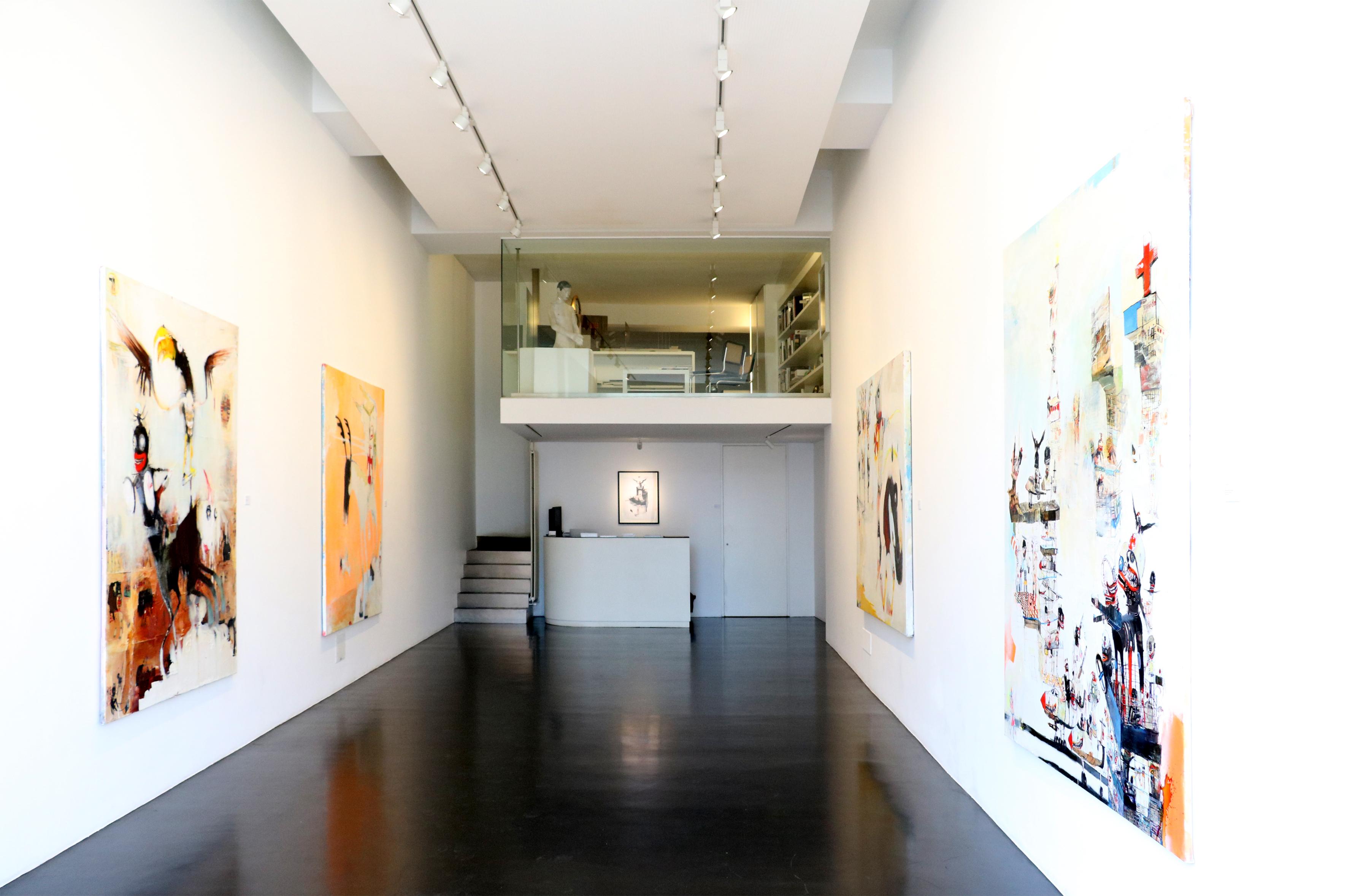 Kinki Texas, veduta della mostra Mental Shiloh Supper Club, Alessandro Casciaro Art Gallery, Bolzano
