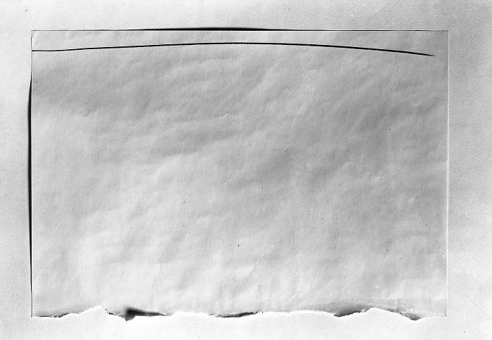 """""""Senza titolo"""", 1960 Matita su carta strappata 35 x 50 cm Proprietà dell'artista © Giulio Paolini Foto courtesy Fondazione Giulio e Anna Paolini, Torino"""