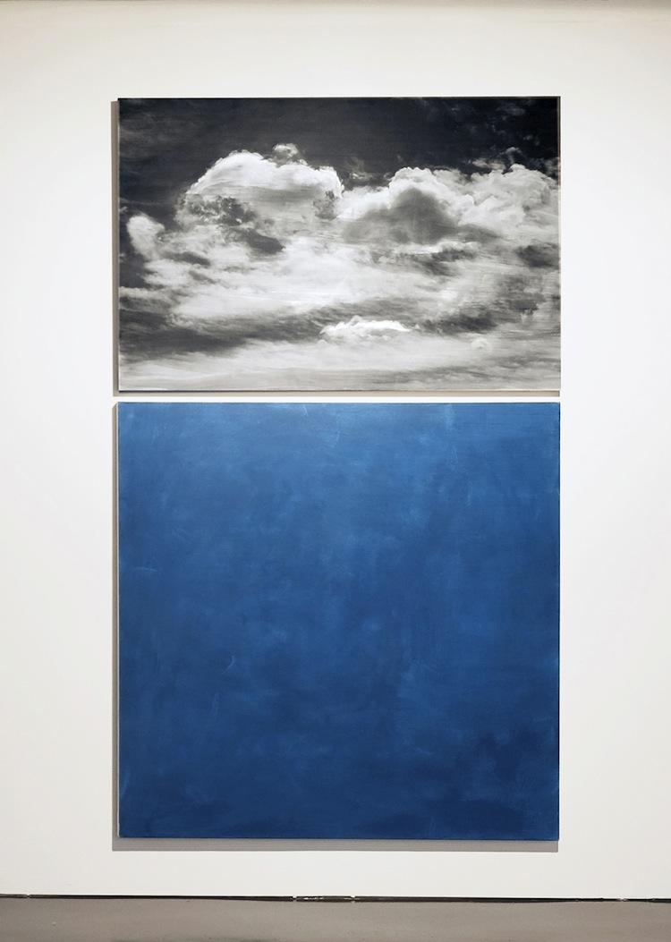Nataly Maier, Himmel Diptychon gross, 2000, fotografia su alluminio e acrilico su tela, 240x150 cm
