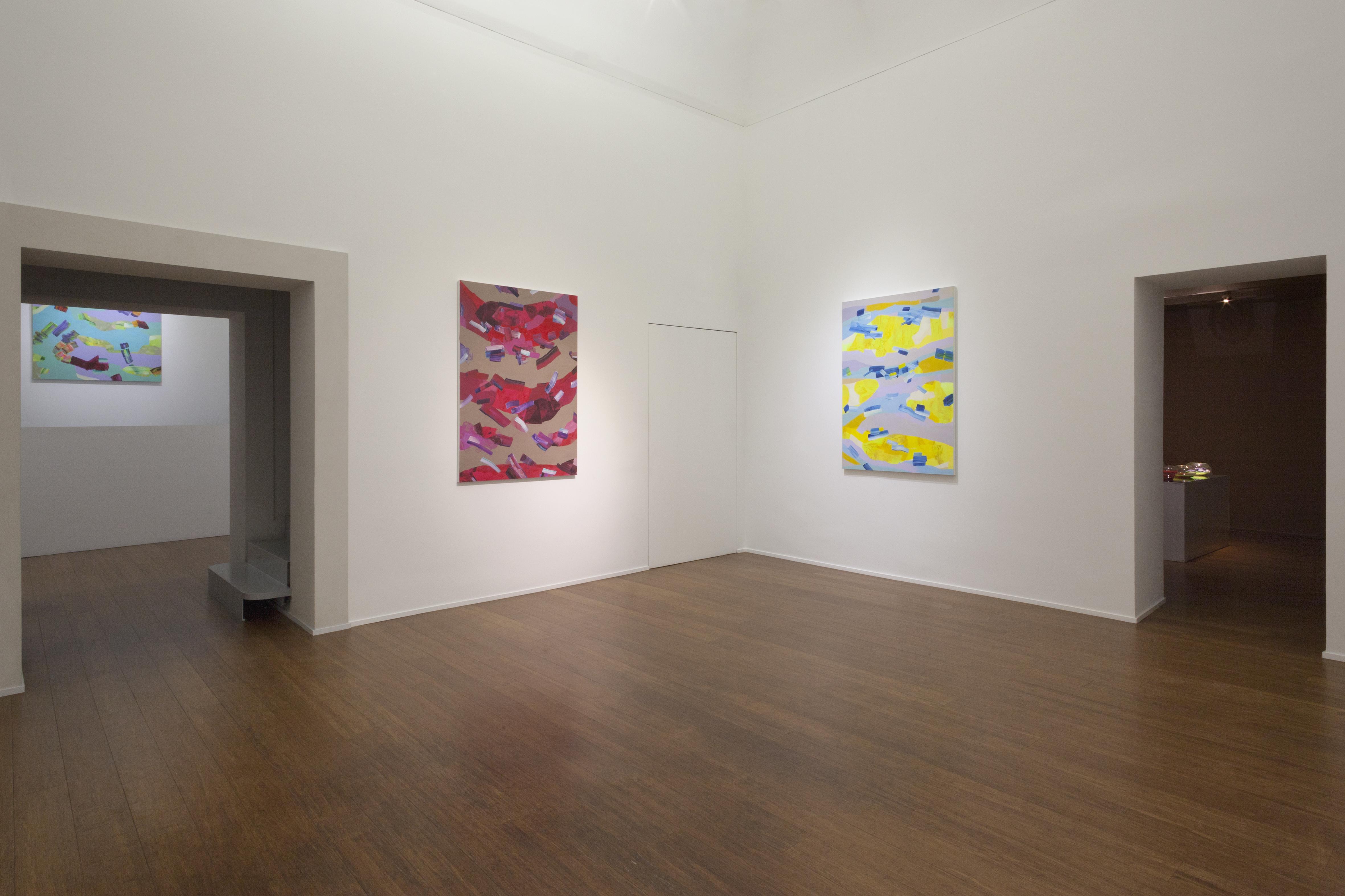 Isabella Nazzarri, Clinamen, allestimento sala Aria, mostra da ABC-ARTE Genova