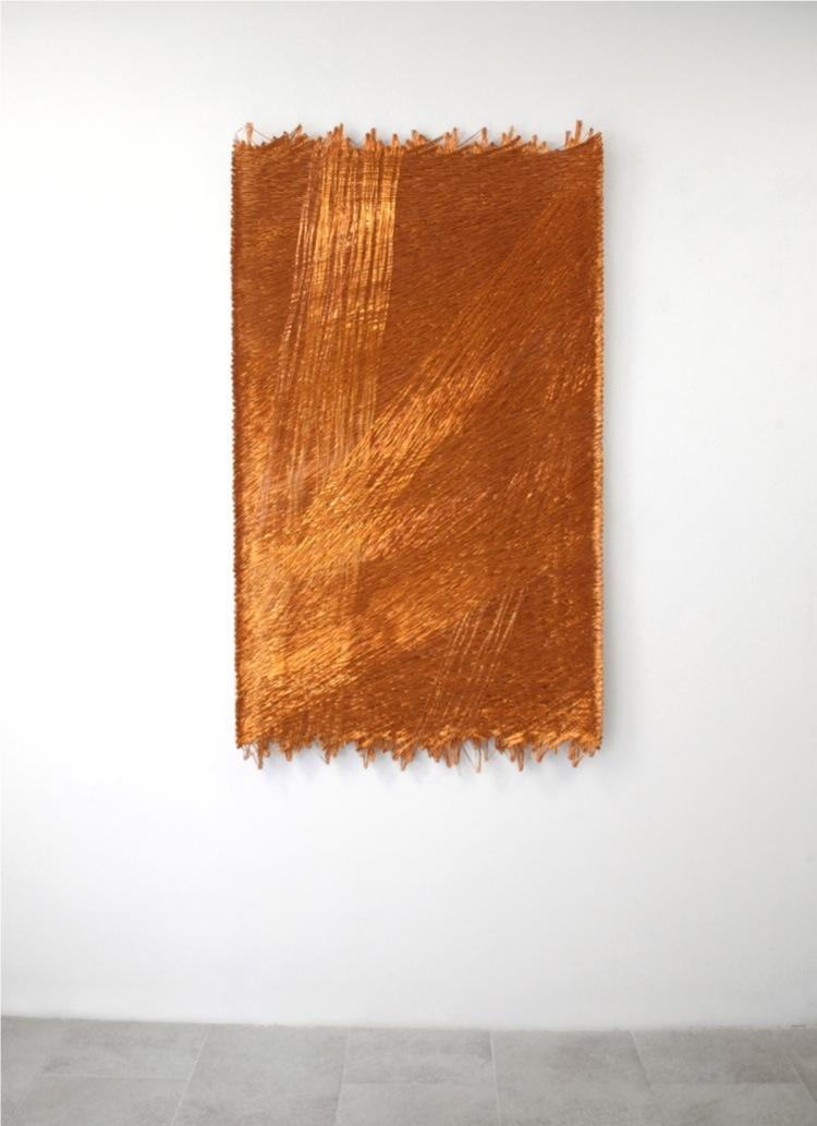 Antonella Zazzera, Armonico CS/ CCXLIII, 2009-15, fili di rame, 150x83x2 cm