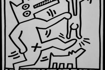 Keith Haring, Senza titolo, 1983, litografia su carta, 34x47 cm Courtesy Deodato Arte, Milano