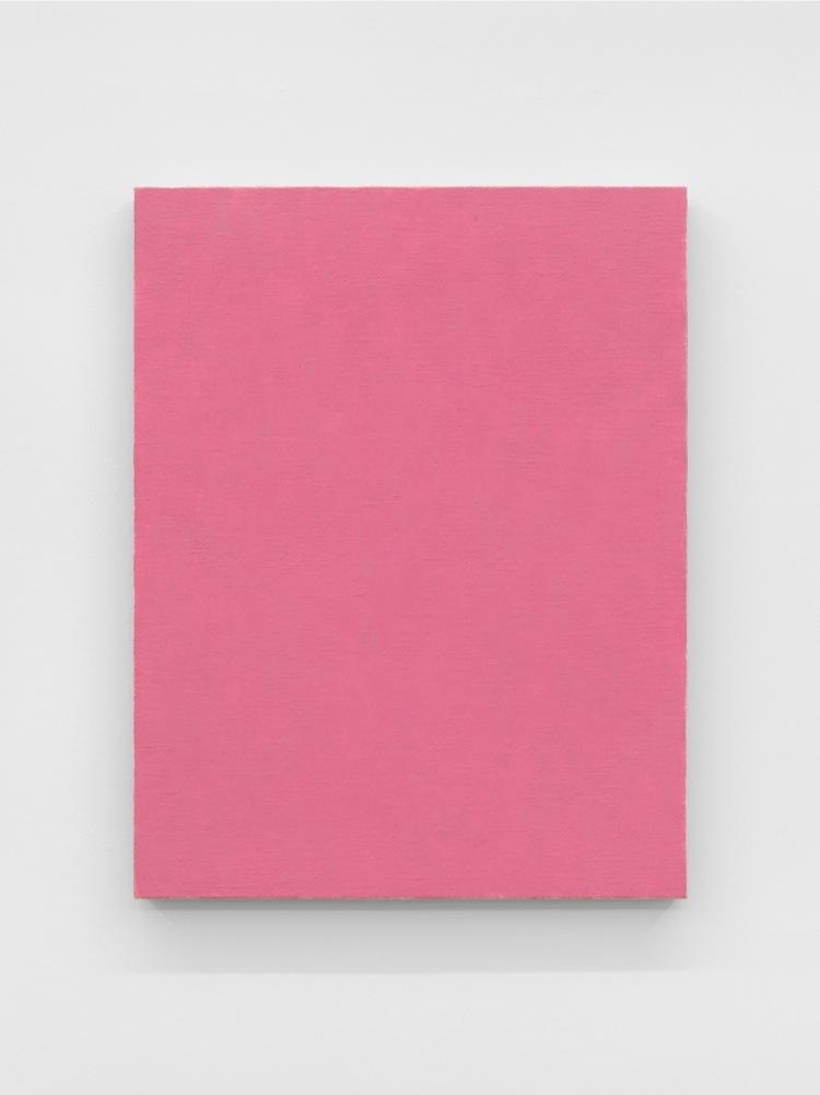 Phil Sims, Pink Endless Painting, 2015, olio su tela, 91.5x71 cm