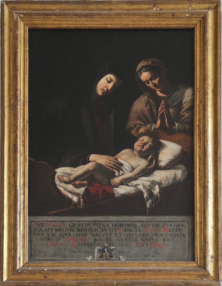 Giovanni Francesco Guerrieri, La Vergine con il Bambino e Sant'Anna, 1627, olio su tela, 152x98 cm, Cattedrale, Fossombrone (PU)