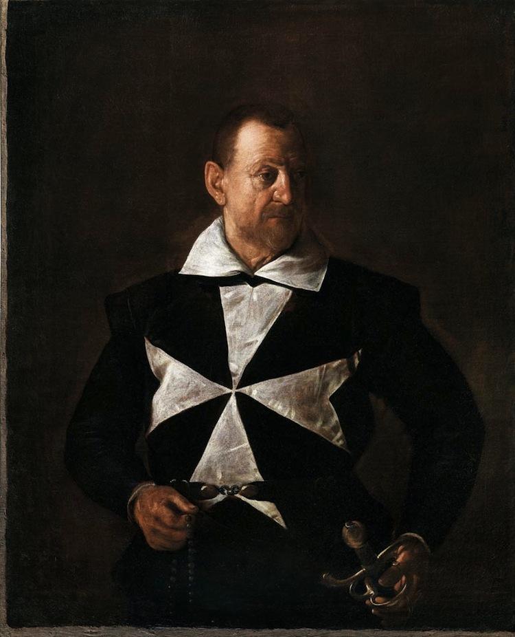 Michelangelo Merisi da Caravaggio, Ritratto di un cavaliere di Malta, 1607-1608, olio su tela, 118.5x95 cm, Galleria Palatina di Palazzo Pitti, Firenze © Gabinetto fotografico delle Gallerie degli Uffizi, Firenze