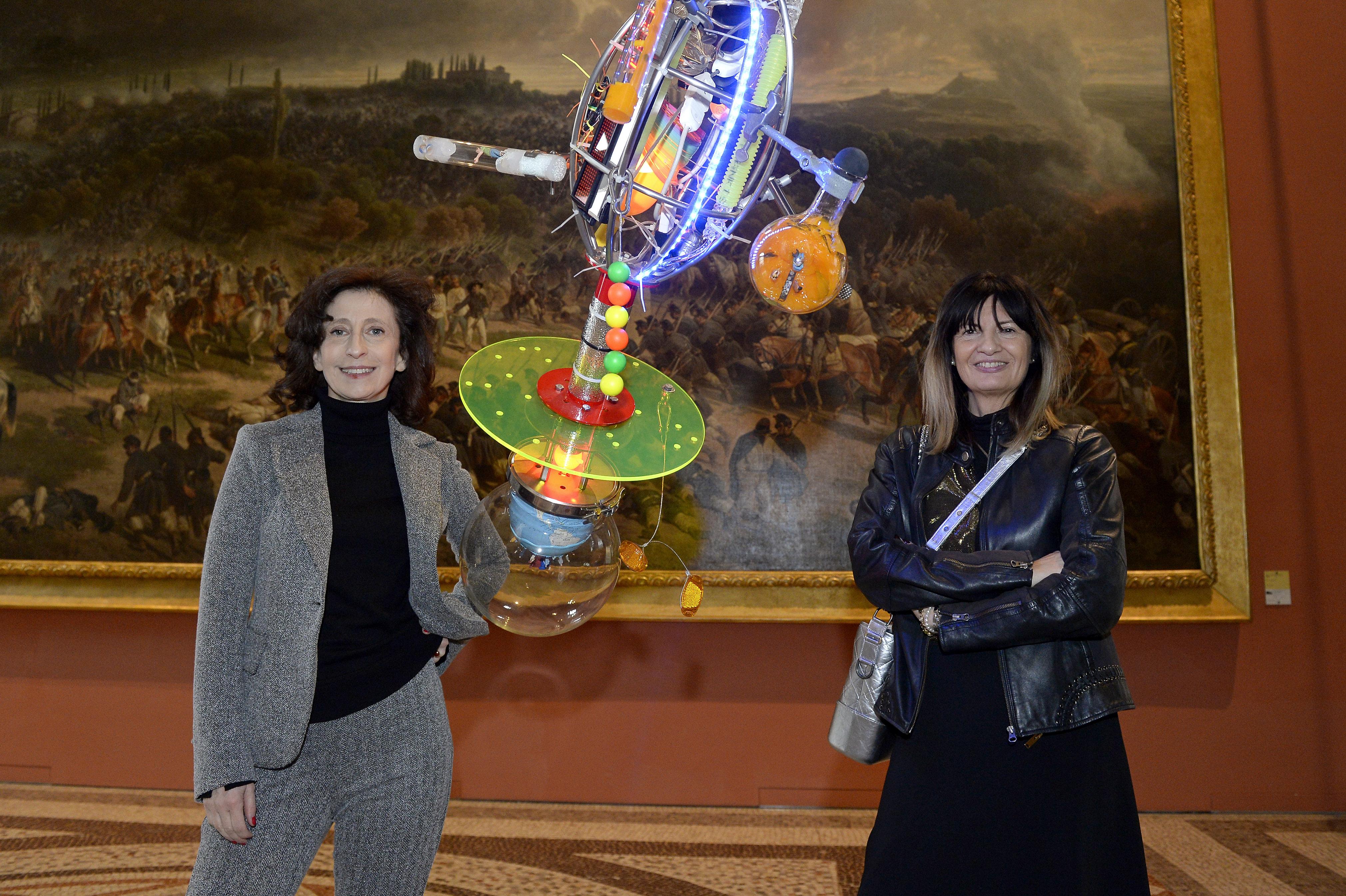 Sabrina Sottile founder e Claudia Flora responsabile relazioni pubbliche © Filippo Alfero. Art for Excellence 2017 Torino, Museo del Risorgimento, 28/11/2017