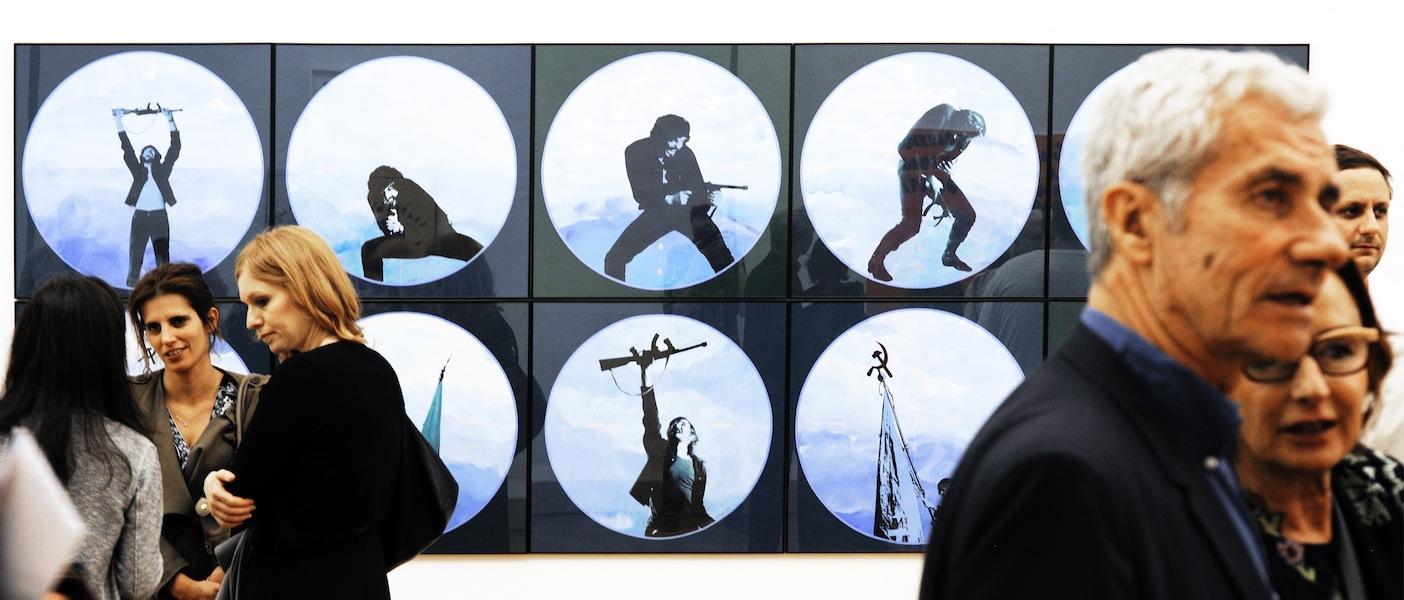 Arte ribelle. 1968-1978 Artisti e gruppi dal Sessantotto, veduta della mostra, Galleria Gruppo Credito Valtellinese, Milano Foto Fabrizio Stipari / CreVal