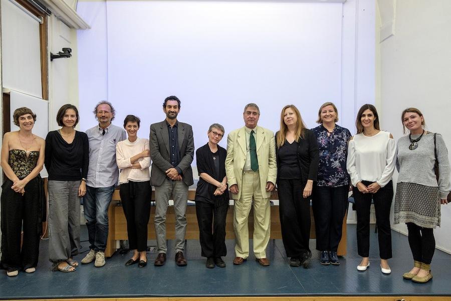 Presentazione del volume al Museo di Roma in Trastevere, 2017 (l'autore con gli artisti presenti)