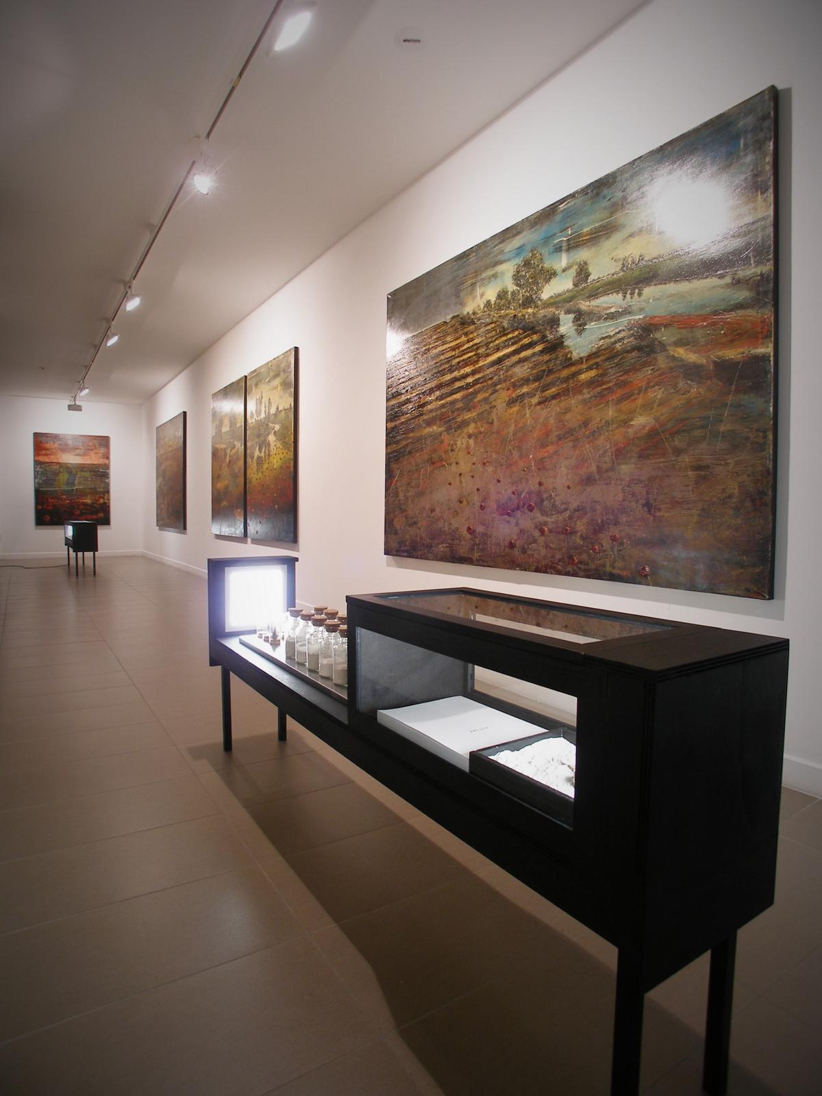Jernej Forbici, Prima-del-dopo-veduta-mostra-Galleria-Romberg-Latina-